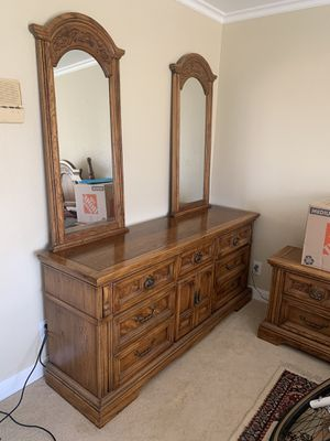 Complete bedroom furniture set. Real wood! for Sale in San Leandro, CA