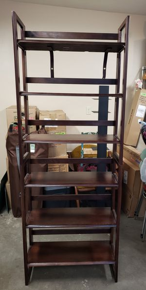 Solid Wood Stackable Folding Bookshelves for Sale in Lacey, WA