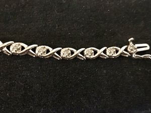 Diamond White Gold Bracelet- 1/2CT- 10WG-10K-Perfect condition. Gift never given,never worn.Purchased at Kay Jewelers- not taking offers for Sale in Bellflower, CA