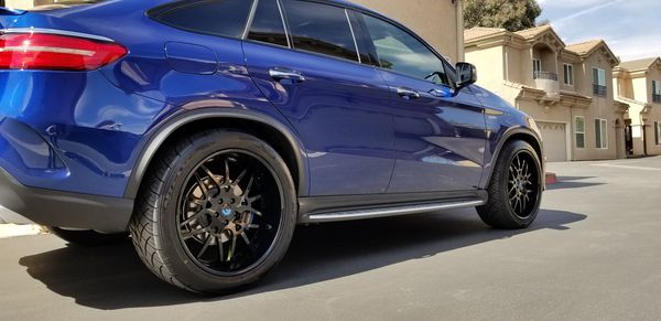 Rims Genuine Forgiato 22s with tires. New. For Mercedes GLE 43 or 63.