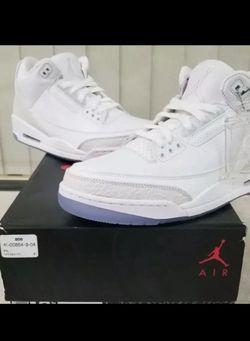 Jordan 3 Triple White for Sale in Franklin,  TN