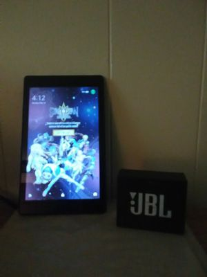 Amazon fire HD 8 with Alexa and JBL GO Bluetooth speaker for Sale in Lorain, OH