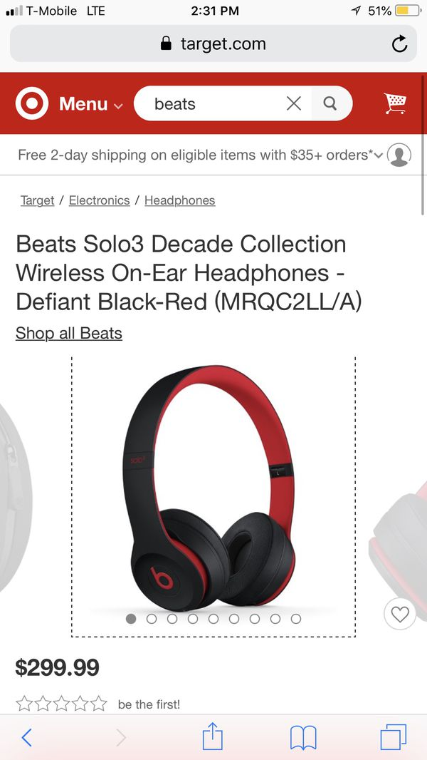 Beats Solo3 Decade Collection Wireless On Ear Headphones Defiant Black Red Mrqc2ll A For Sale In El Cajon Ca Offerup