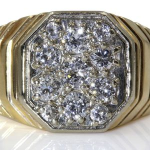 U519 MENS 14K GOLD DIAMOND WEDDING RING BAND 0.95CT 7.9GRAMS for Sale in San Diego, CA