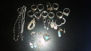Bulk set of solid gold & silver rings, earrings & bracelets!! for Sale in Seattle, WA