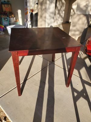 Dark brown table with 4 chairs and 2 breakfast bar chairs for Sale in Avondale, AZ