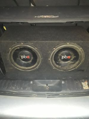12in sub they are dusty but still hooked up works great for Sale in Hammond, IN