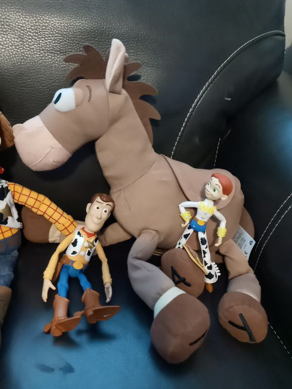 Woody lot 15 inch plushies and talking woody action figure