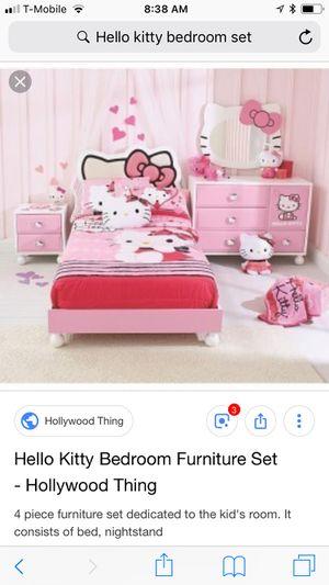 Hello kitty bedroom set for Sale in Genola, UT