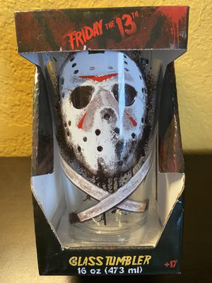 NEW Friday The 13th Jason Voorhees 16 Oz. Pint Glass Tumbler RARE COLLECTIBLE for Sale in Fort Myers, FL