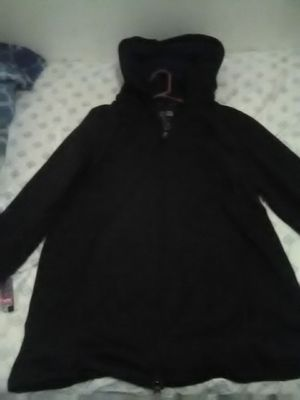 Kenneth Cole Reaction grayish black hoodie jacket hood detaches for Sale in Pittsburgh, PA