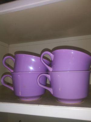 Lavender tea cups set of 4 for Sale in Escondido, CA