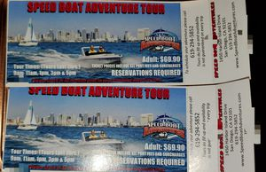 Speed Boat Adventure Tour pair of tickets for Sale in San Diego, CA