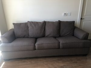 Brown/taupe couch. 94 inches. for Sale in Alexandria, VA