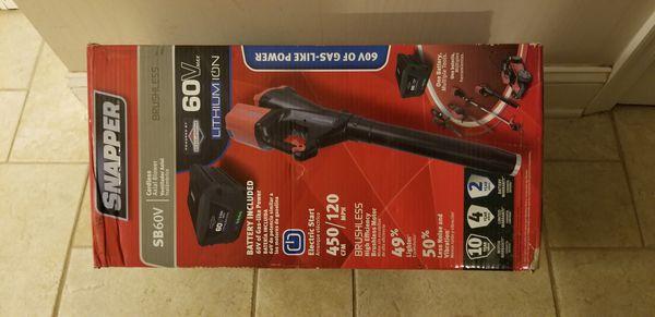 Brand new Snapper SB60v cordless leaf blower