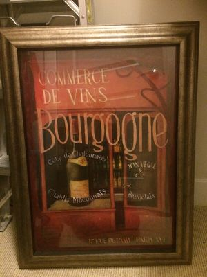Wines picture with frame for Sale in Silver Spring, MD
