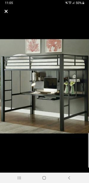 Loft bed frame with desk for Sale in Apache, OK