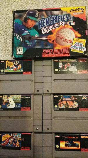 Super Nintendo SNES game bundle. 17 games total. for Sale in Elkridge, MD
