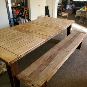 Kitchen Table With 2 Benches And 4 Chairs for Sale in Fresno, CA