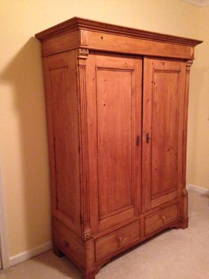 Antique pine armoire for Sale in Suwanee, GA