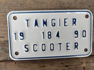 Tangier Island, Va, Scooter License Plate, 1990 for Sale in Fort Defiance, VA