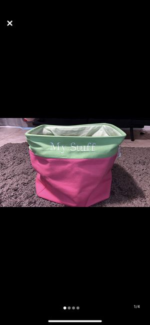 Pink n green container for Sale in Fresno, CA
