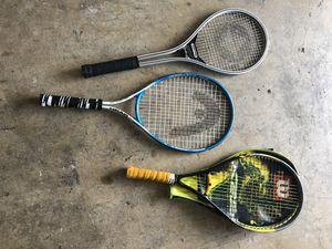 Head, Wilson, Spading tennis racks for Sale in Bristow, VA