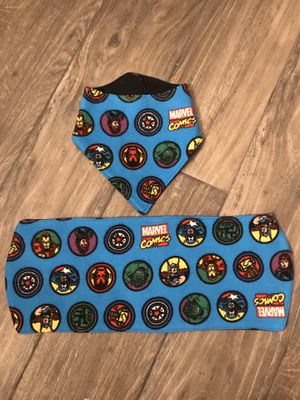 Marvel bib and burp cloth set for Sale in Canyon Lake, CA
