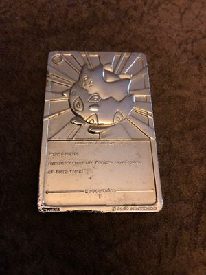 Pokemon Togepi Gold metal trading card 1999 for Sale in Island Lake, IL