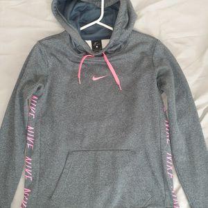 Nike Girl's Grey/Pink Hoodie for Sale in Pasadena, TX