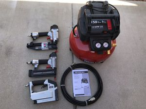 Porter-Cable 6 Gal. 150 PSI Portable Electric Air Compressor, 16-Gauge Nailer, 18-Gauge Nailer and 3/8 in. Stapler Combo Kit (3-Tool) for Sale in Phoenix, AZ