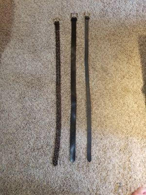 3 Leather Belts for Sale in Boulder, MT