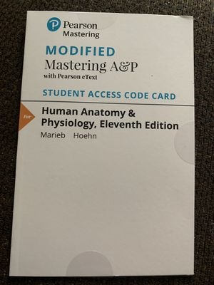 Pearson Mastering: Mastering A&P access code for Sale in MIDDLEBRG HTS, OH