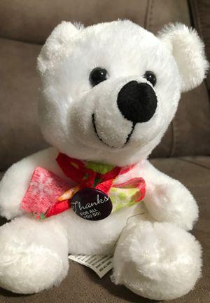 "6"" Xmas Bear stuffed animal $1 for Sale in Menifee, CA"