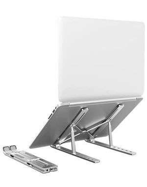 Aluminum Laptop Stand,Computer Stand, Tablet Stand,6 Levels Adjustable Foldable Portable Desktop Stand Compatible with Macbooks,HP,Dell, Acer, Asus,L for Sale in Quitman, TX