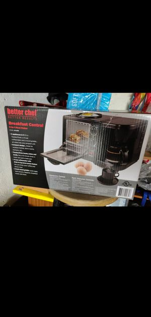 Brand New Better Chef Breakfast Central 3-in-1 Meal Maker- Black (toaster/oven, coffee maker, griddle) Great for dorm for Sale in Alhambra, CA