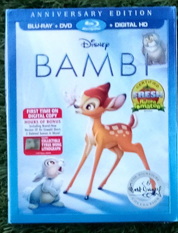 New Blu-Ray +DVD+ Digital HD Disney BAMBI Anniversary Edition