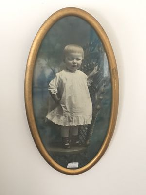 Wonderful Old Ancestral Photo of Little Boy in Christening Gown - Circa 1920s for Sale in Baltimore, MD