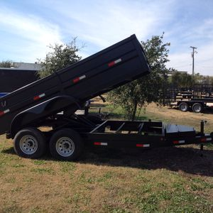 #6774. 7x14 dump 2' sides, tandem 7000# axles for Sale in North Richland Hills, TX