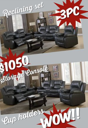 BRAND NEW 3pc RECLINING SOFA LOVESEAT AND CHAIR $1050 WE DELIVER $99 for Sale in Sandy Springs, GA