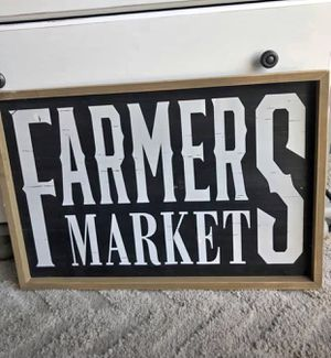 Framed farmers market sign for Sale in Anoka, MN