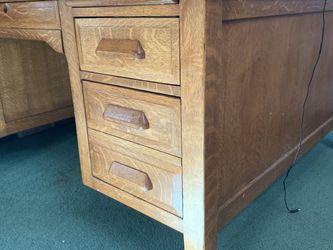 Vintage 1950s Oak Double Sided Desk for Sale in Beaverton,  OR