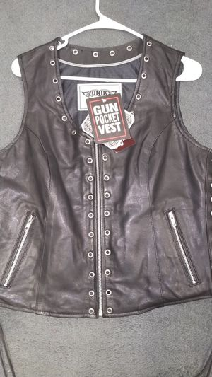 Genuine leather vests for Sale in Dickinson, ND