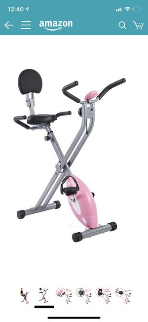Folding pink stationary bike $100 for Sale in Vallejo, CA