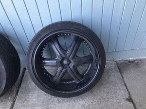 "Black 22"" rim, 6 lug universal asking $460.00 for Sale in Salinas, CA"