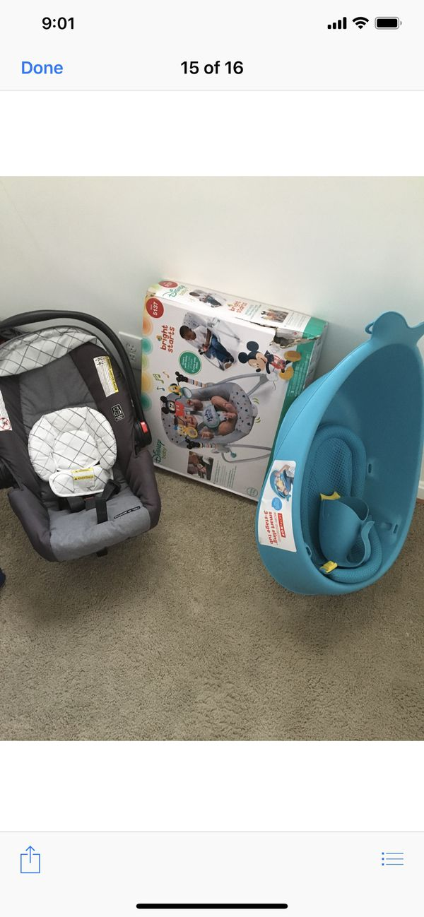 Kids car seat toys walker and high chair