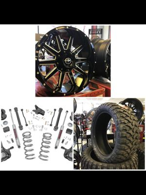 "NEW 20x10 XF Off-road Black Rims Wheels Dodge Ram 1500 35"" Mud Tires 6"" Suspension Lift INSTALLED! for Sale in Tampa, FL"