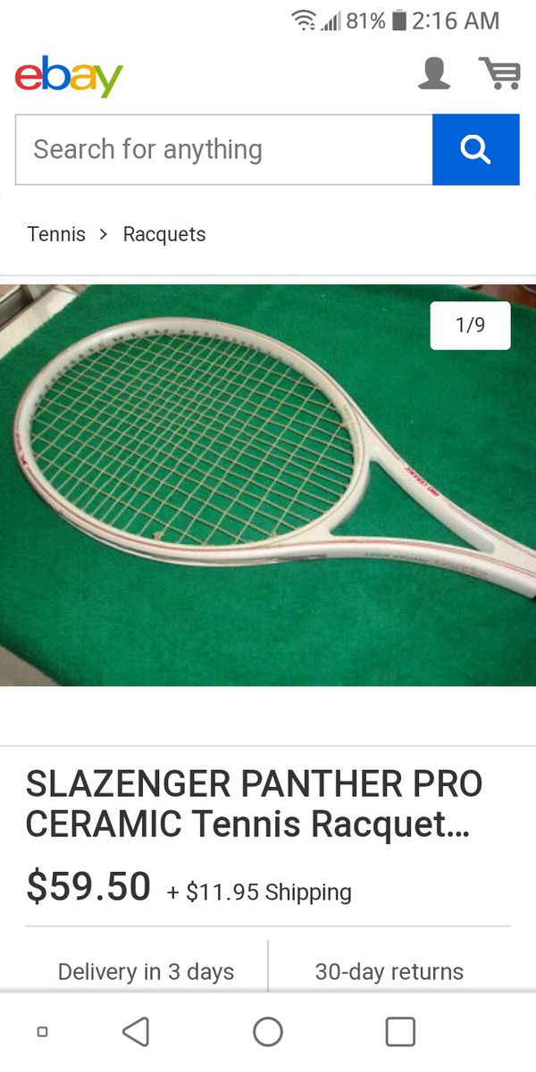 PANTHER PRO CERAMIC. Tennis racket made in Germany