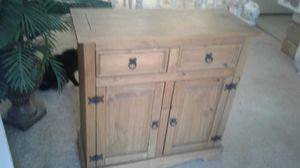 Wood Cabinet with Doors and Shelf for Sale in Colorado Springs, CO