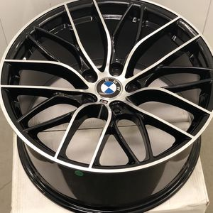 """Brand new 19"""" staggered BMW Style black polished sport wheels 5x120 all 4 PRICE FIRM! READ DESCRIPTION!! for Sale in Norwalk, CA"""